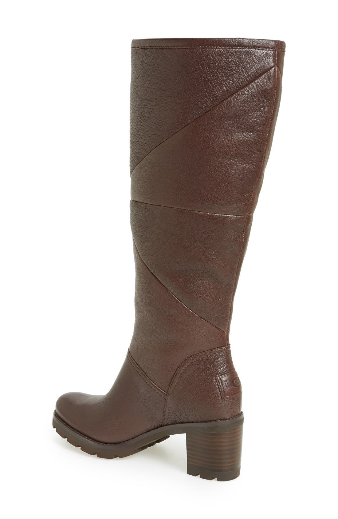 Alternate Image 2  - UGG® 'Avery' Water Resistant Genuine Shearling Lined Leather Boot (Women)