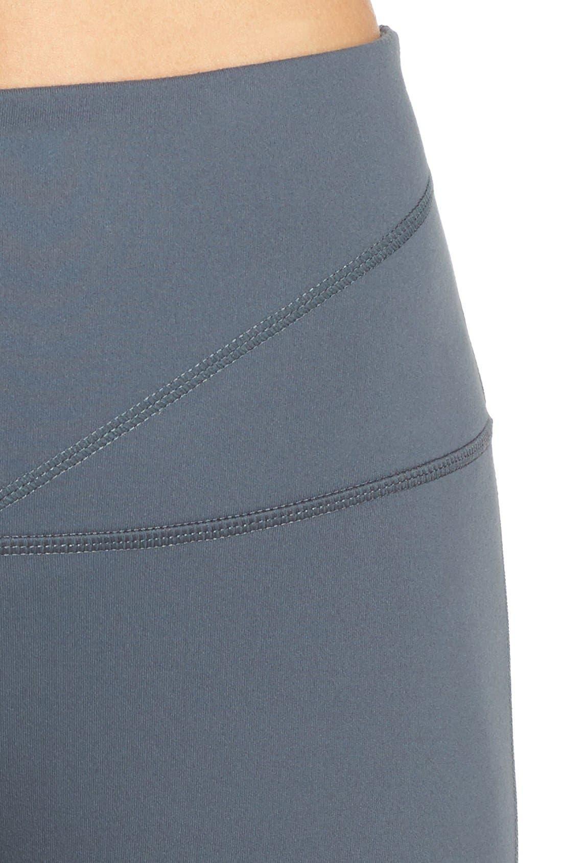 Alternate Image 4  - Zella 'Midnight' High Waist Cutout Midi Leggings