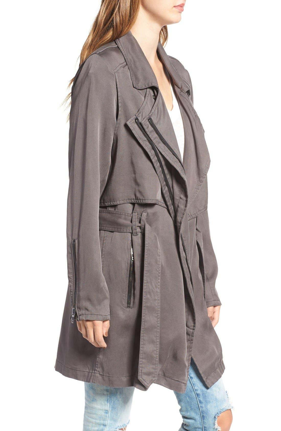 Alternate Image 3  - BLANKNYC Drapey Trench Coat