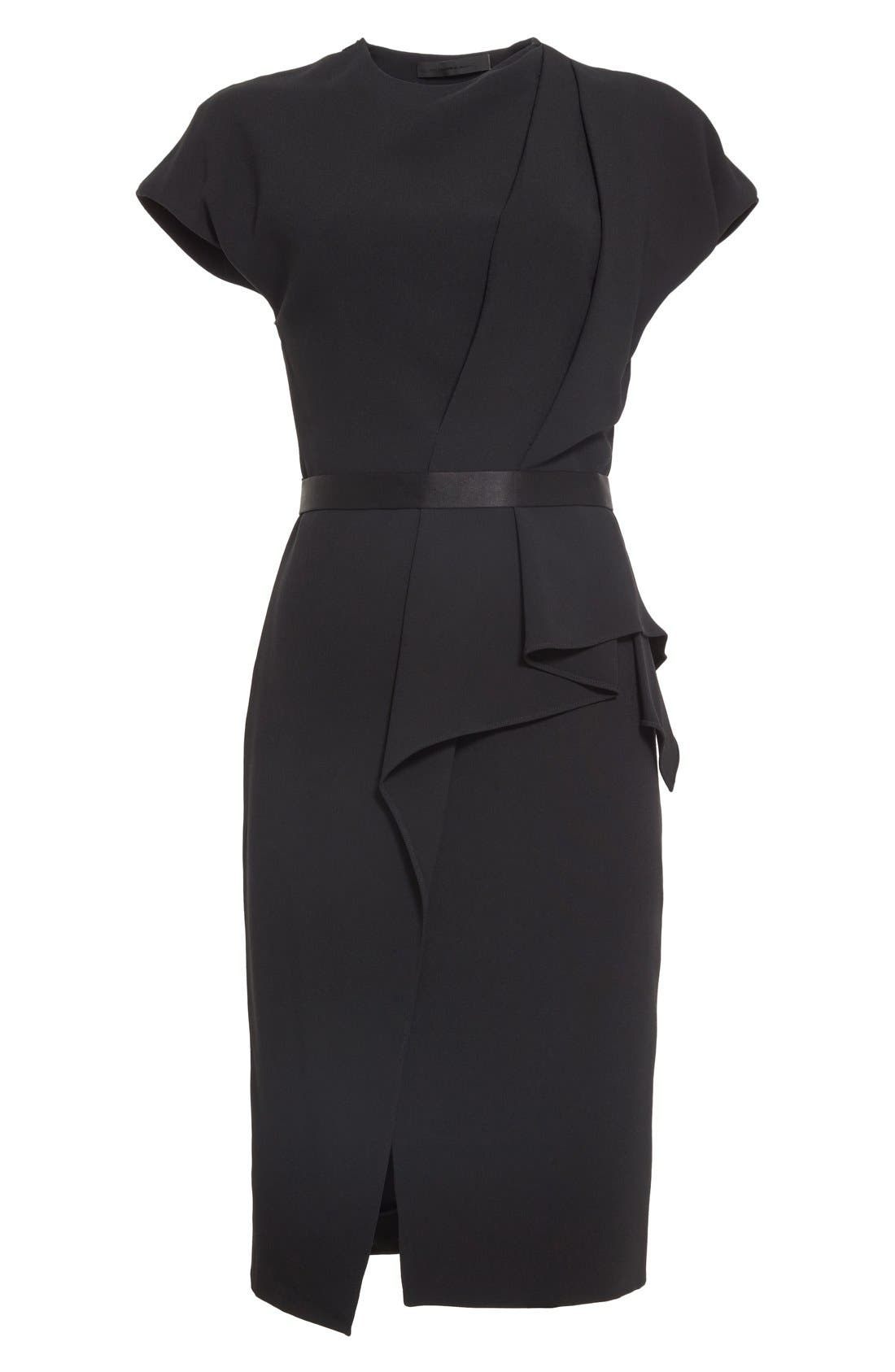 Alternate Image 4  - Alexander Wang Belted Drape Detail Pencil Dress
