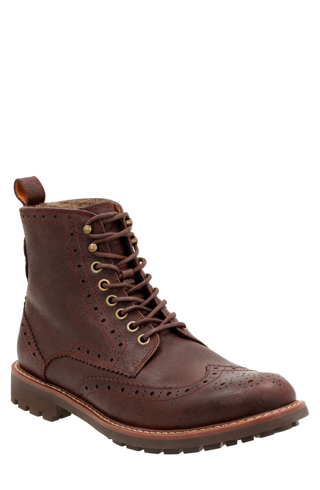 Clarks® 'Montacute Lord' Wingtip Boot (Men)