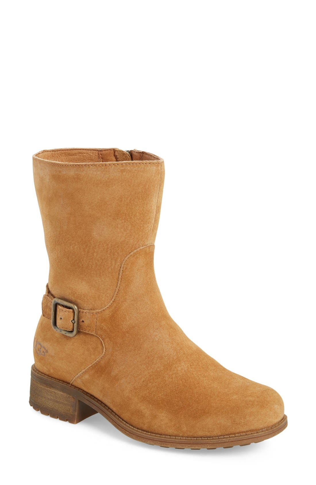 Alternate Image 1 Selected - UGG® Keppler Genuine Shearling Lined Moto Boot (Women)