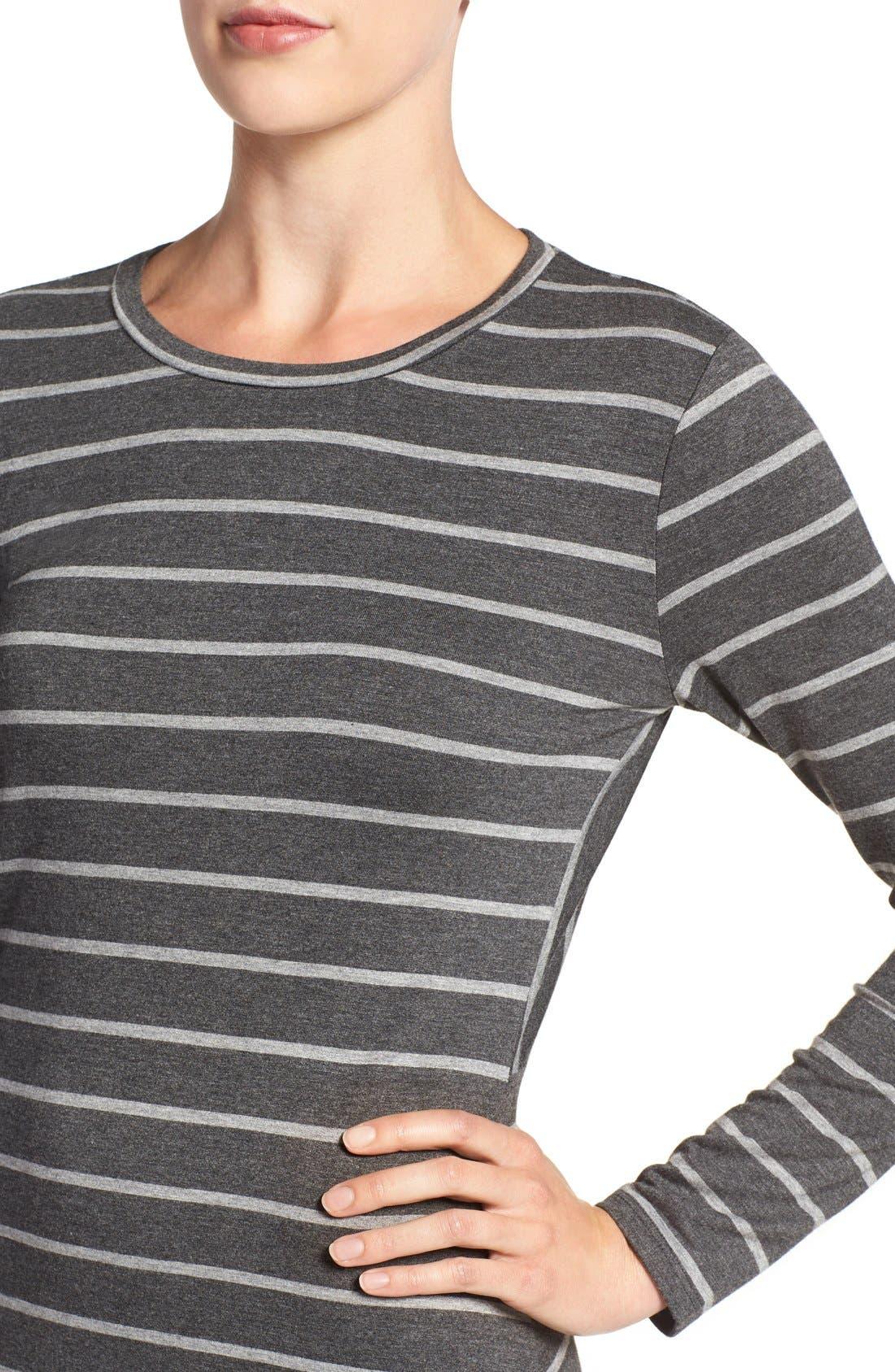 Alternate Image 4  - cupcakes and cashmere 'Malbec' Stripe Body-Con Dress