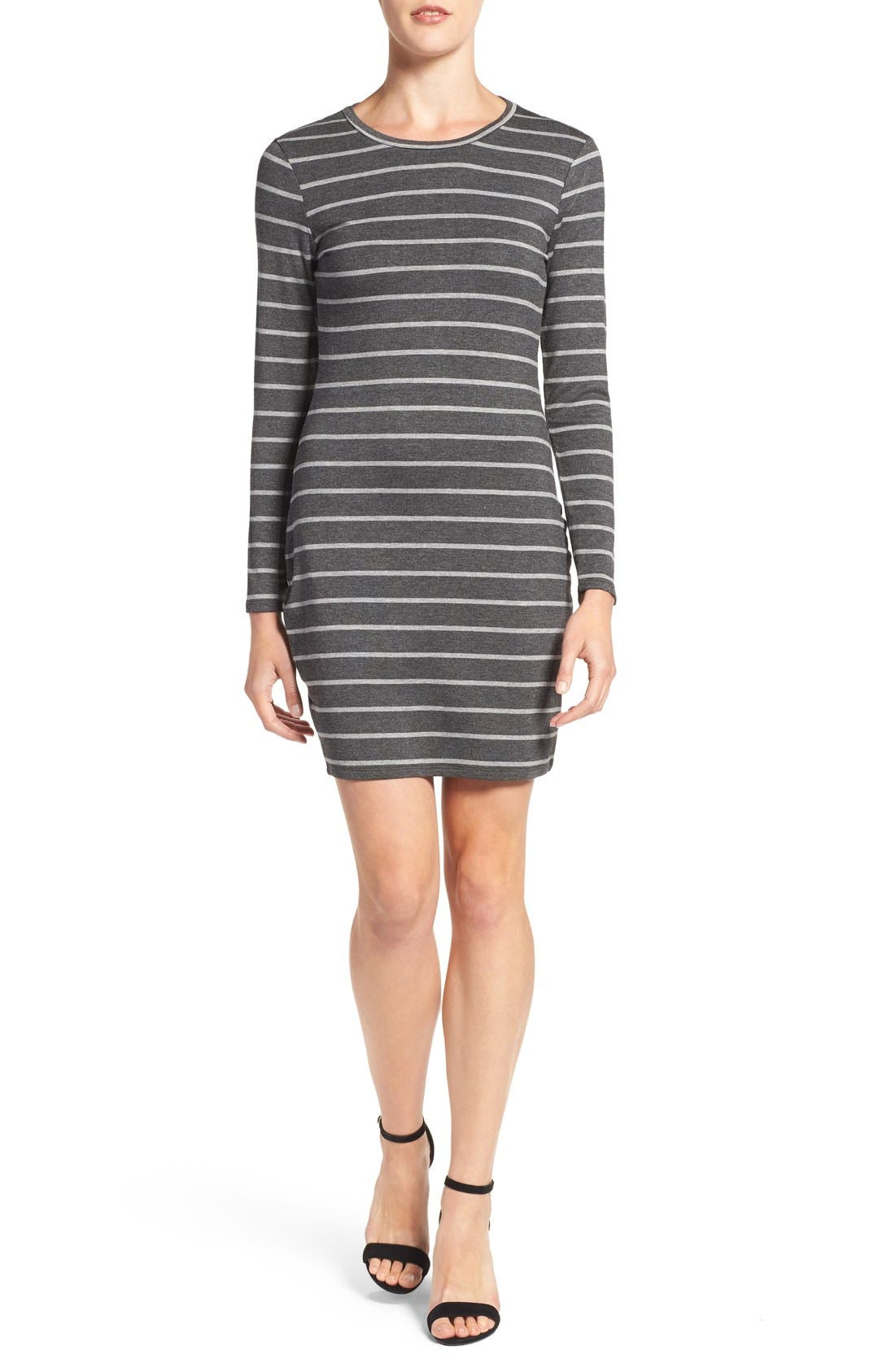 Main Image - cupcakes and cashmere 'Malbec' Stripe Body-Con Dress