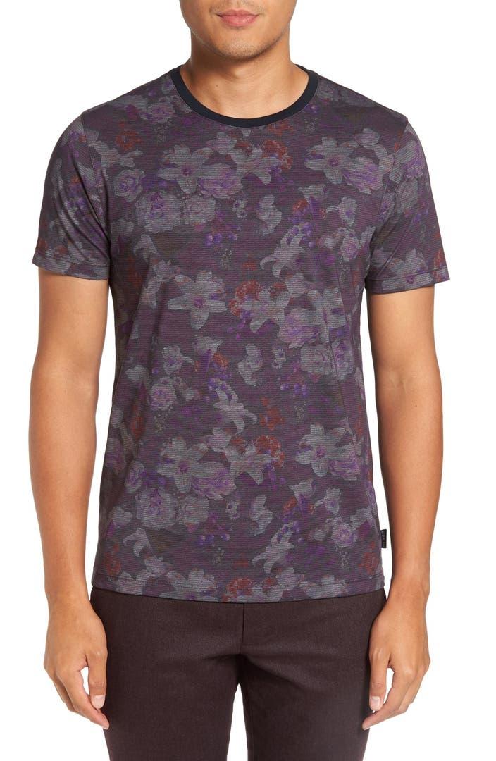 Ted baker london mushrum floral print t shirt nordstrom for Ted baker floral print shirt