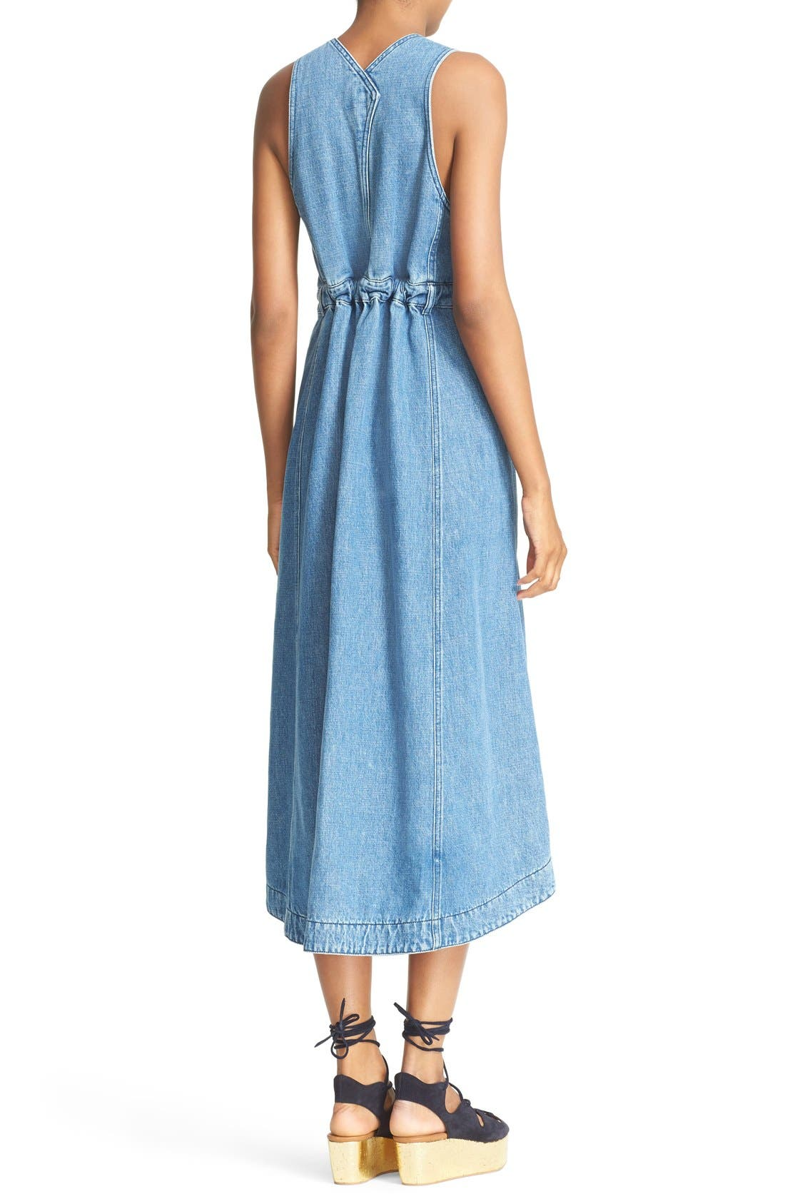 Alternate Image 2  - See by Chloé Denim Overall Dress