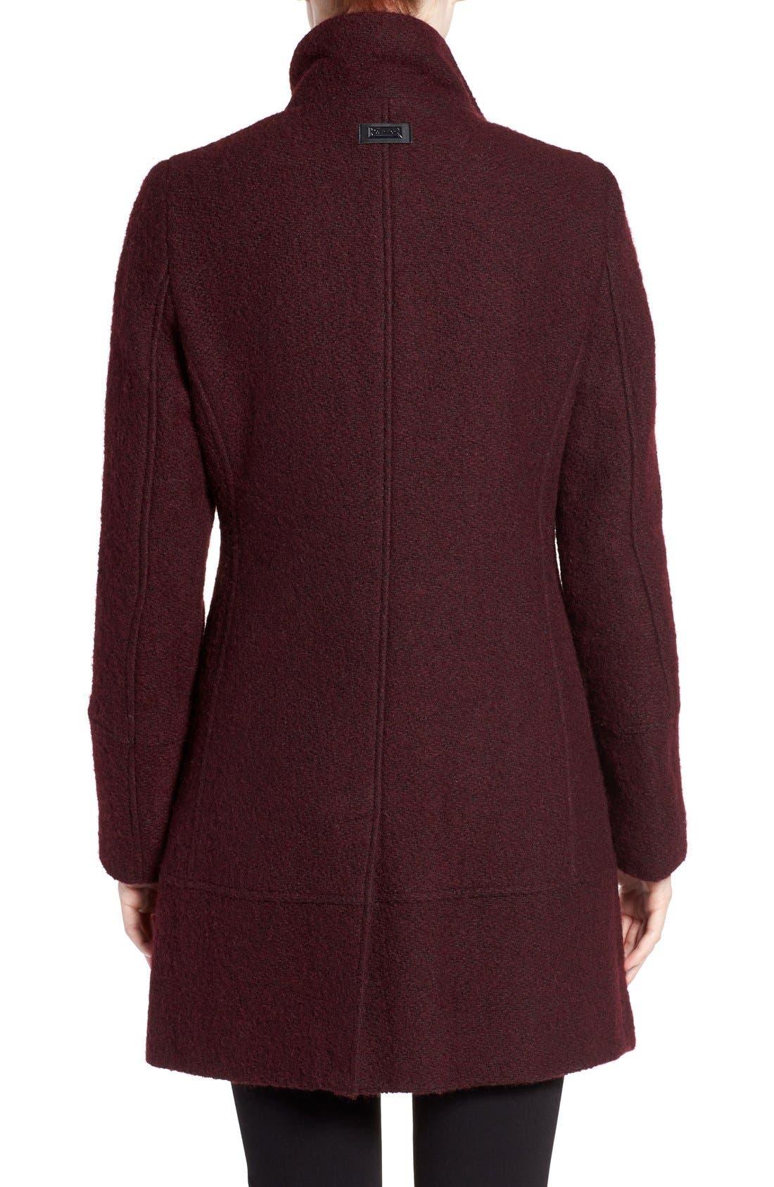 Alternate Image 2  - Calvin Klein Wool Blend Bouclé Walking Jacket (Regular & Petite)