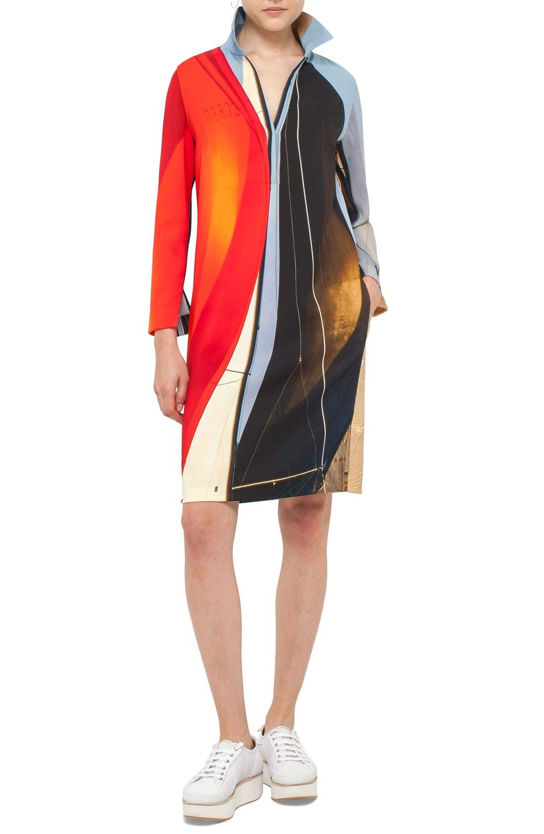 AKRIS PUNTO 'Mainsail' Print Tunic Dress