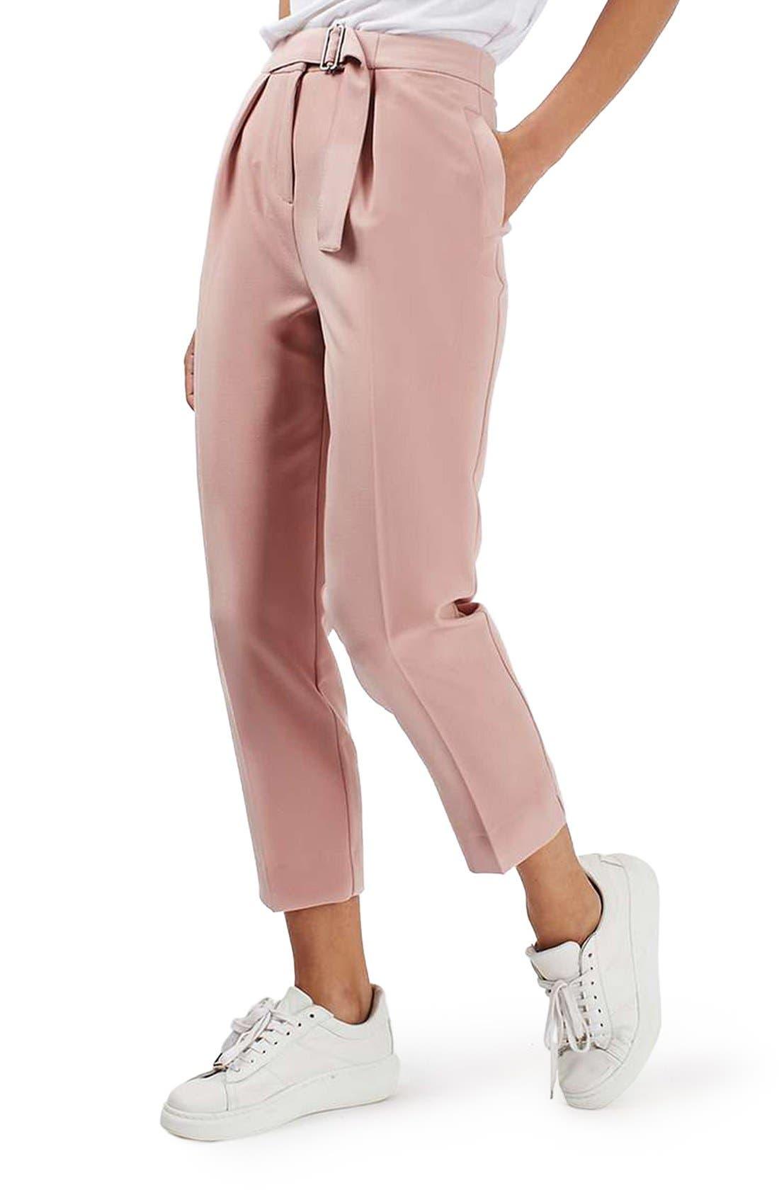 Main Image - Topshop Slider Utility Peg Trousers (Regular & Petite)