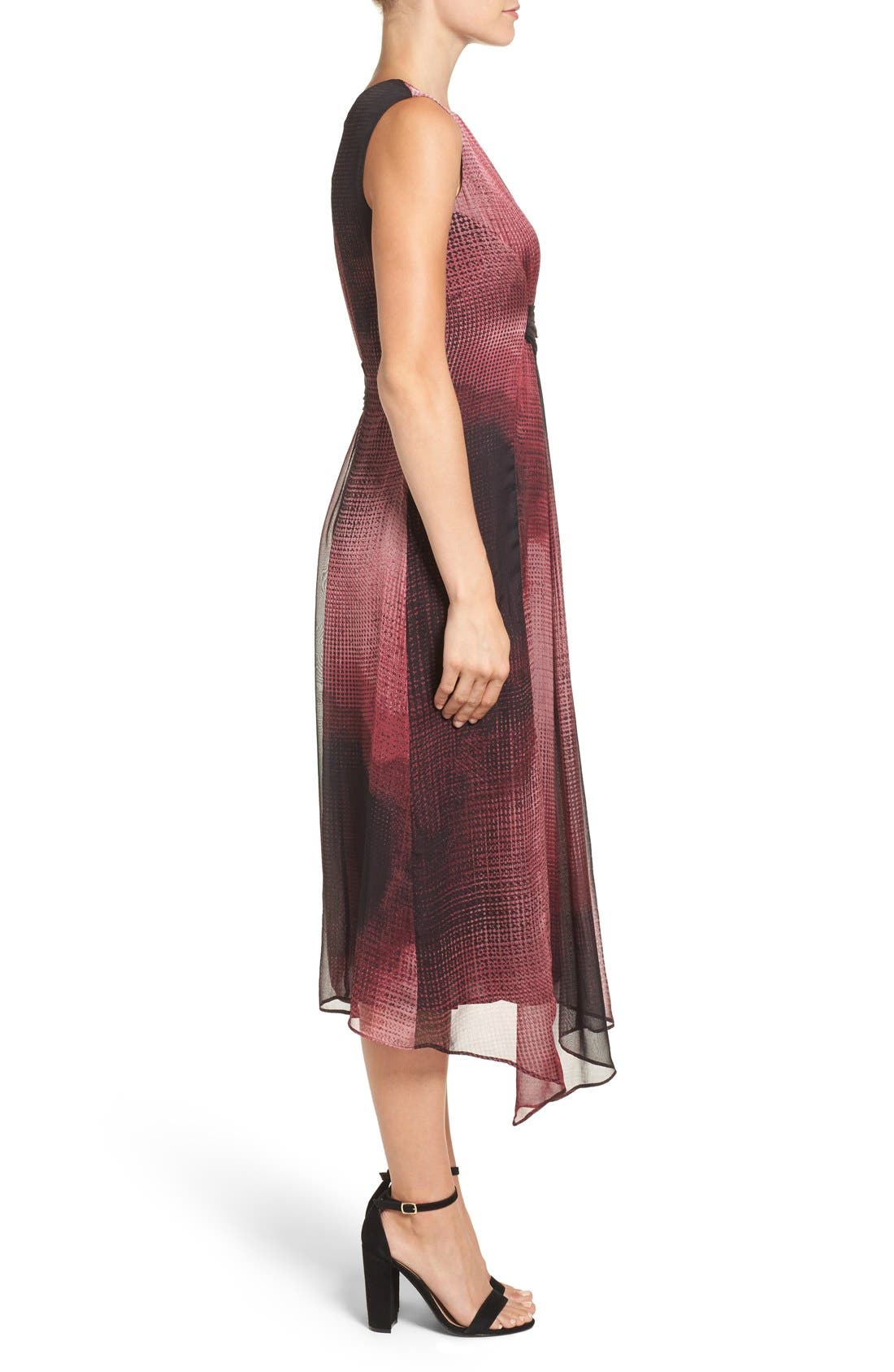 Alternate Image 3  - NIC+ZOE 'Digital Age' Print Silk Midi Dress