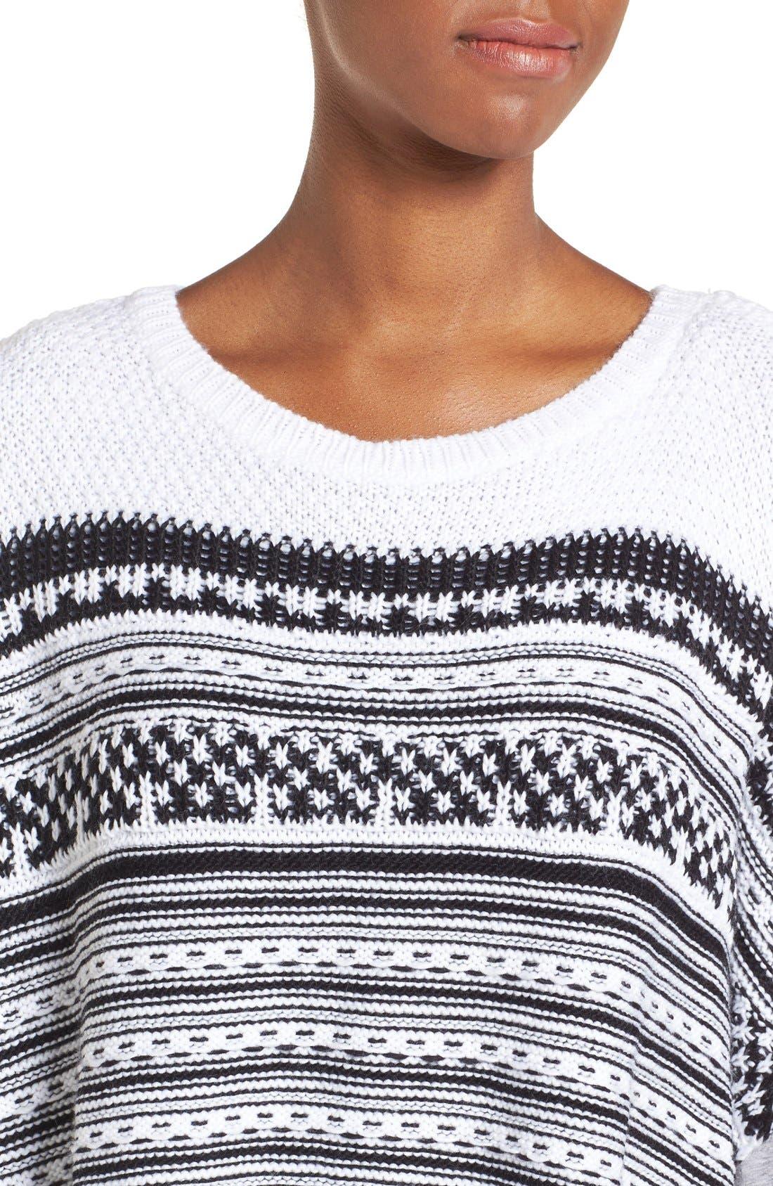 Alternate Image 4  - BCBGeneration Stripe Knit Poncho