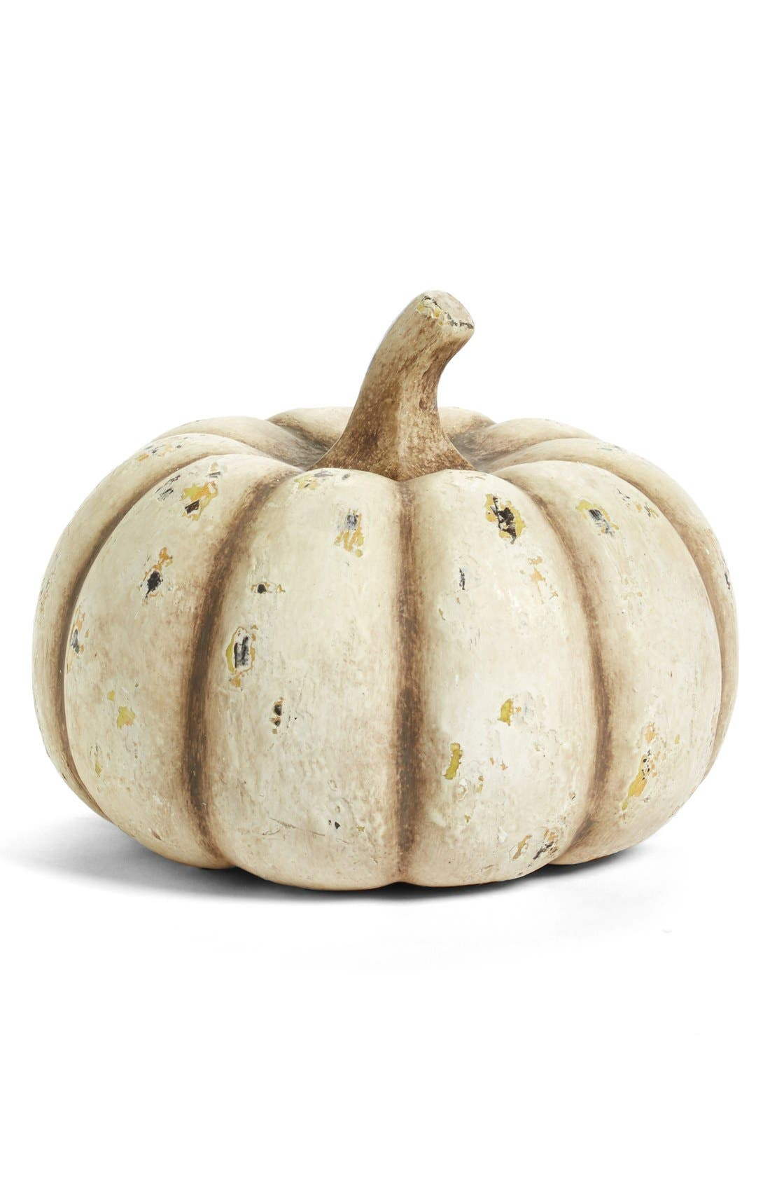 Alternate Image 1 Selected - K & K Interiors White Pumpkin Decoration
