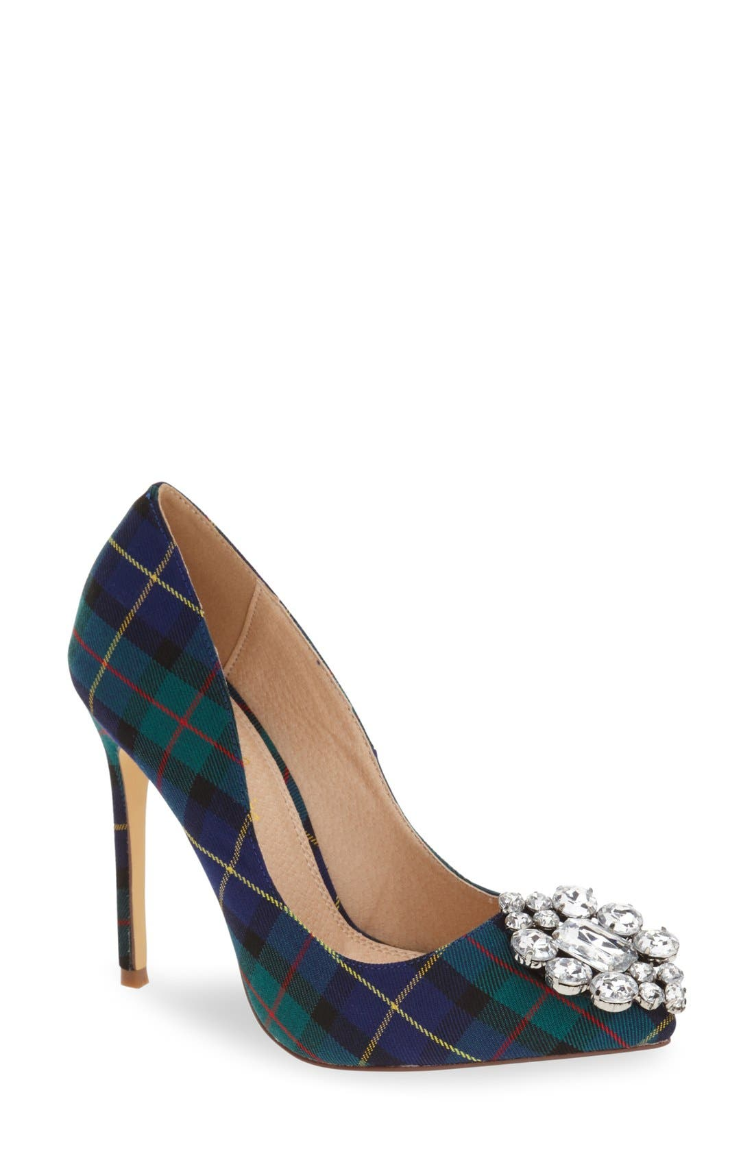 Main Image - Lauren Lorraine Crystal Pointy Toe Pump (Women)