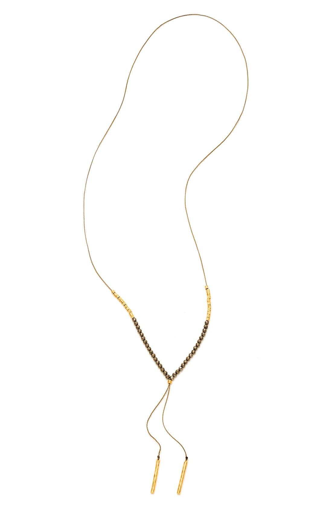 gorjana Power Stone Adjustable Y-Necklace