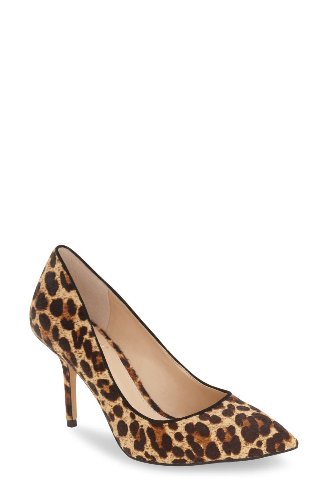 Alternate Image 1 Selected - Vince Camuto 'Salest' Genuine Calf Hair Pump (Women)