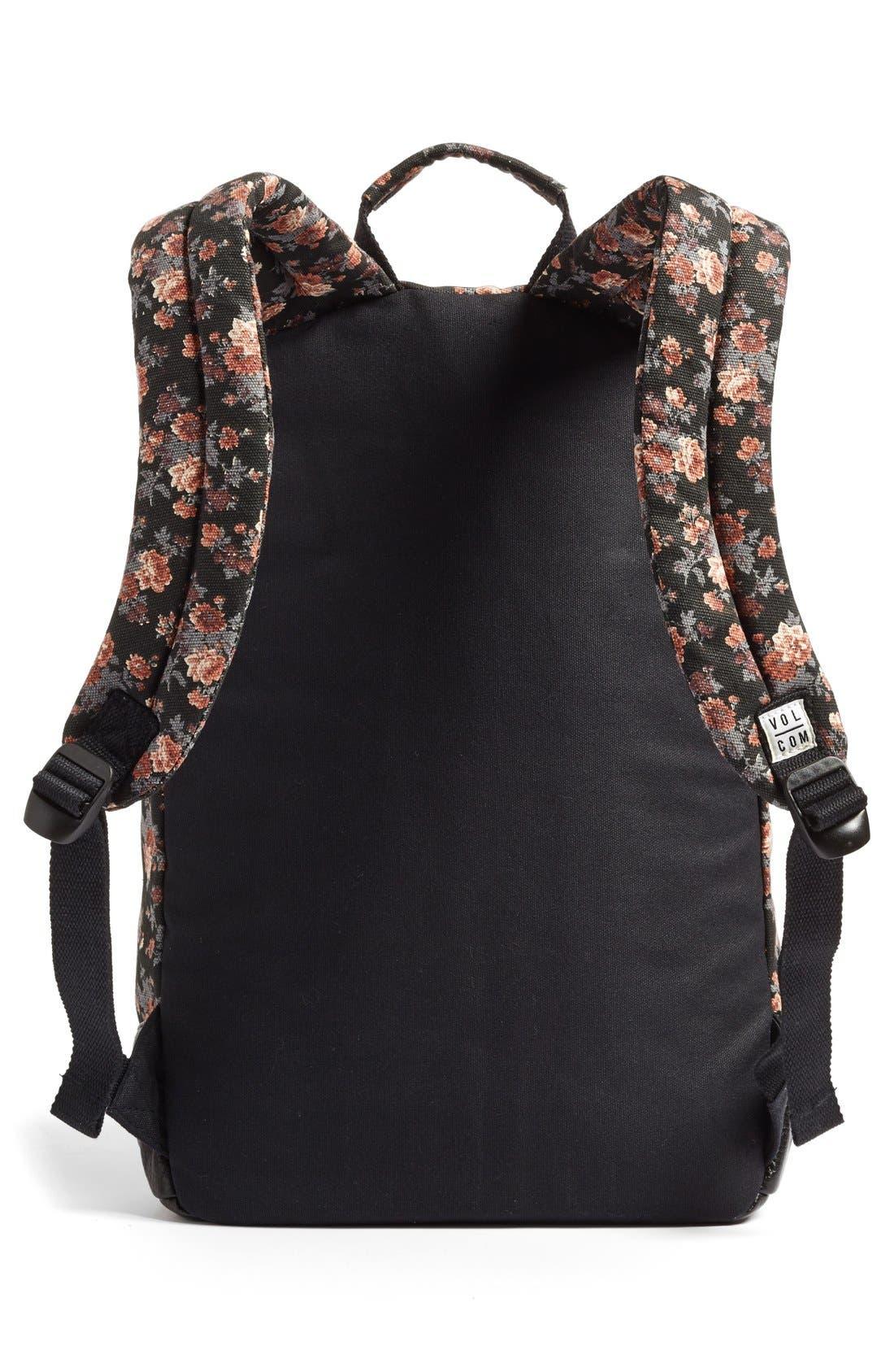 Alternate Image 2  - Volcom 'Leaf Me Alone' Floral Print Backpack