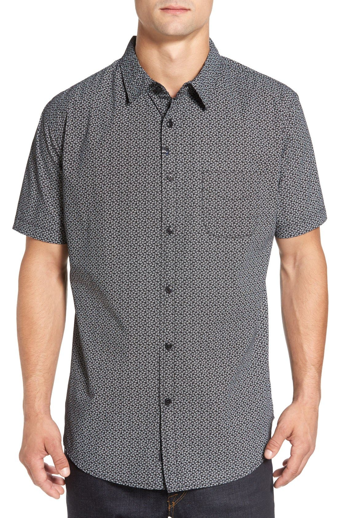 IMPERIAL MOTION 'Branch' Slim Fit Print Short Sleeve