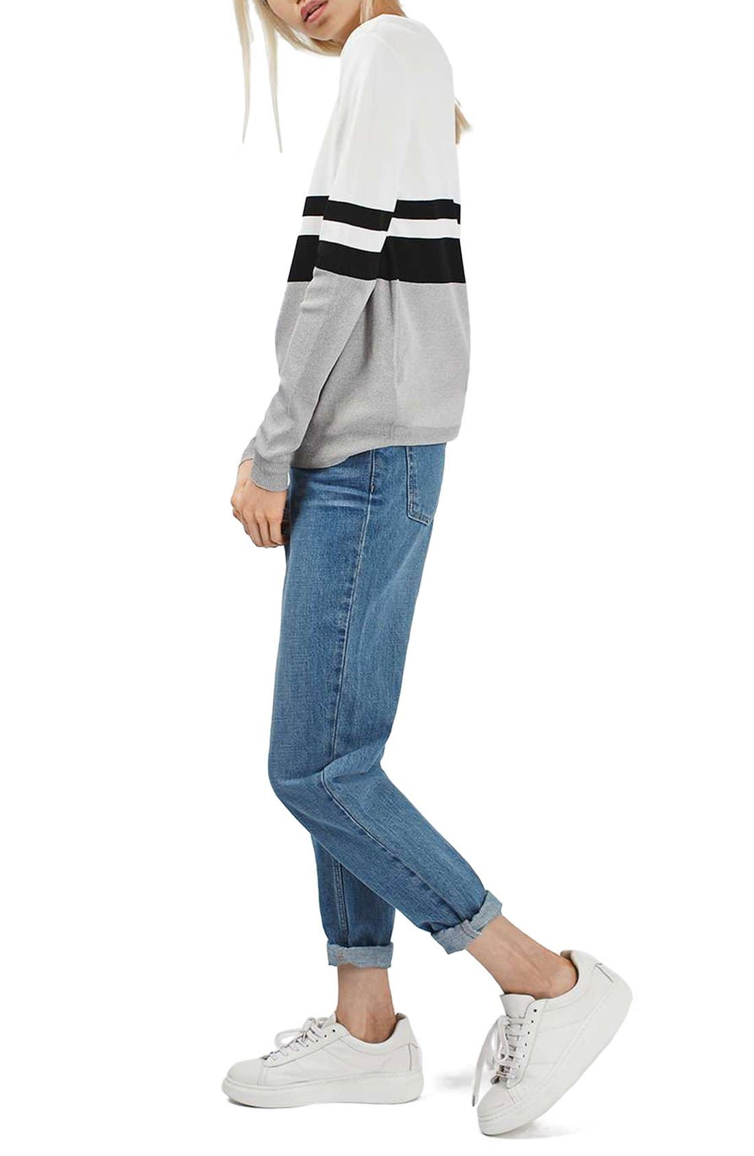 Alternate Image 3  - Topshop Sporty Stripe Sweater