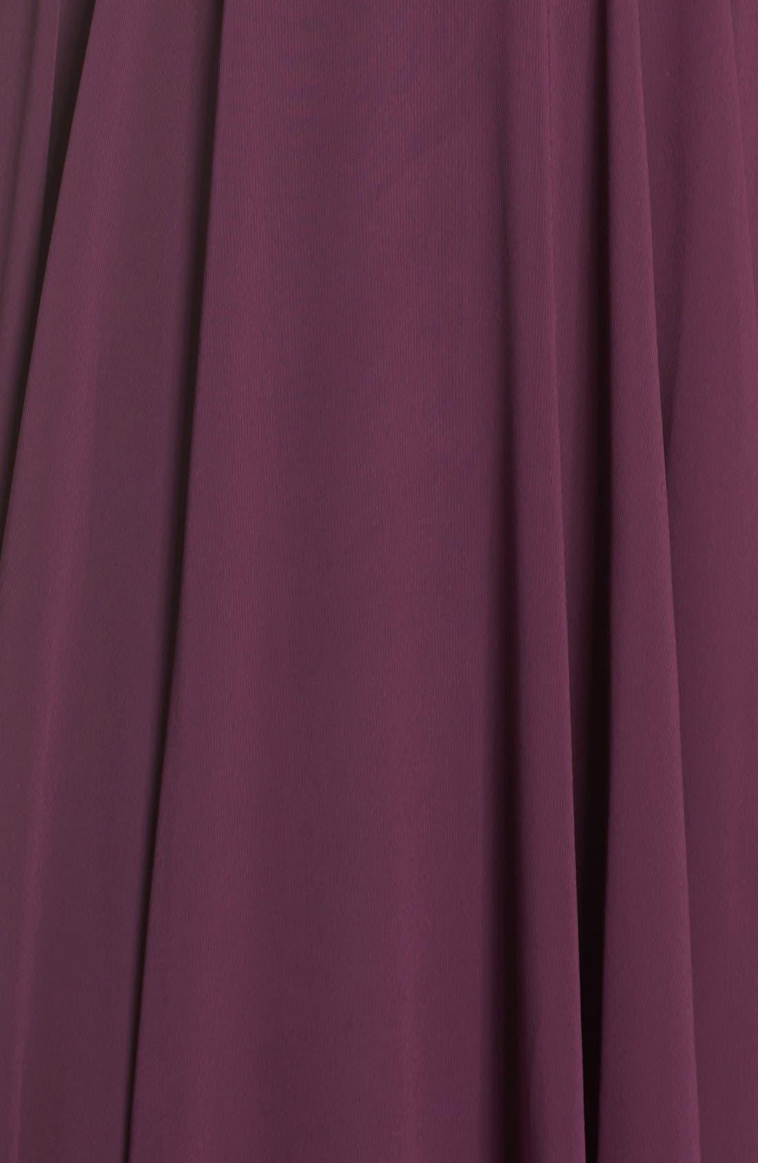 Alternate Image 5  - Jenny Yoo Inesse Chiffon V-Neck Spaghetti Strap Gown