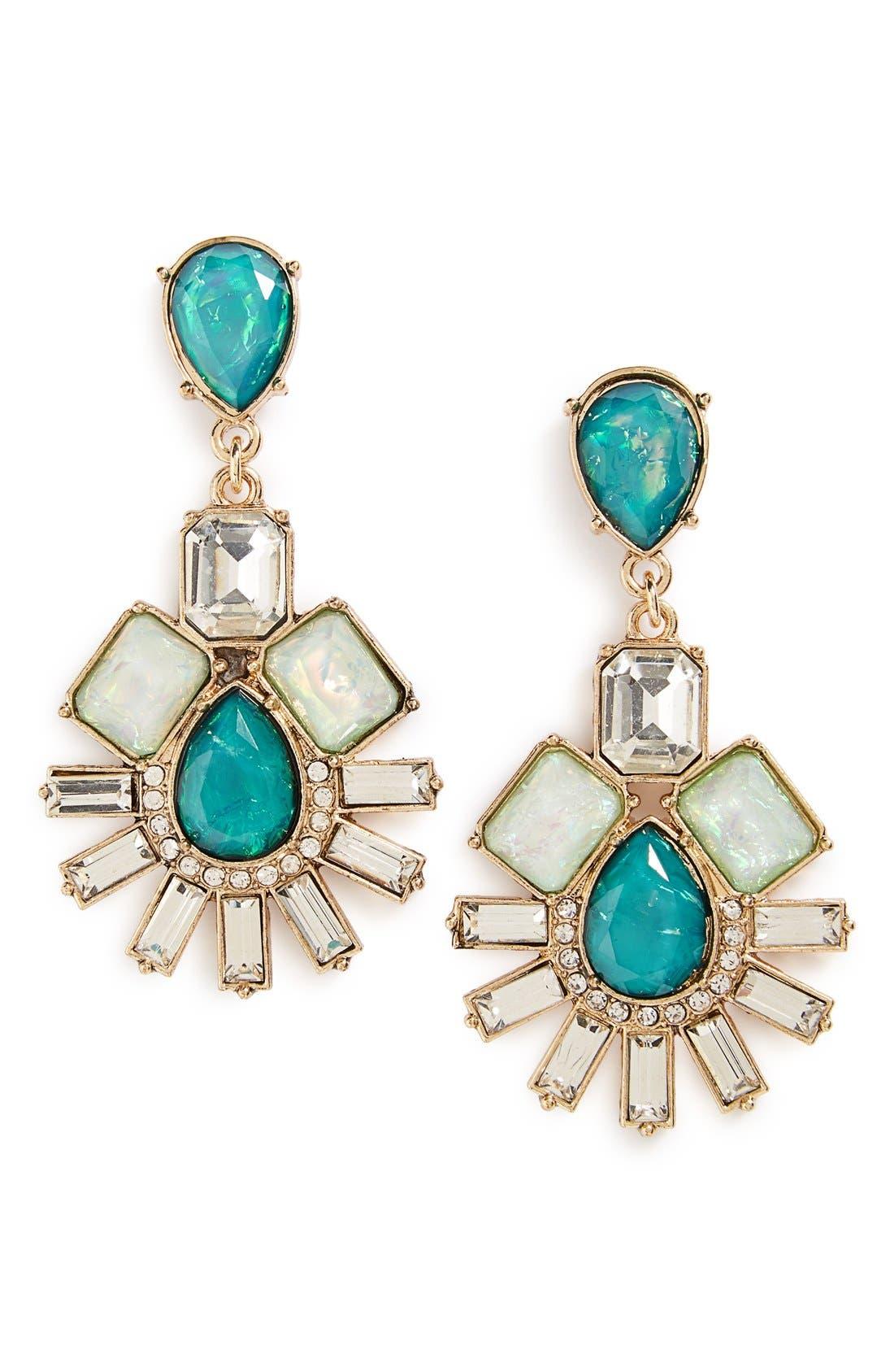 Alternate Image 1 Selected - BP. Teardrop Crystal Statement Earrings