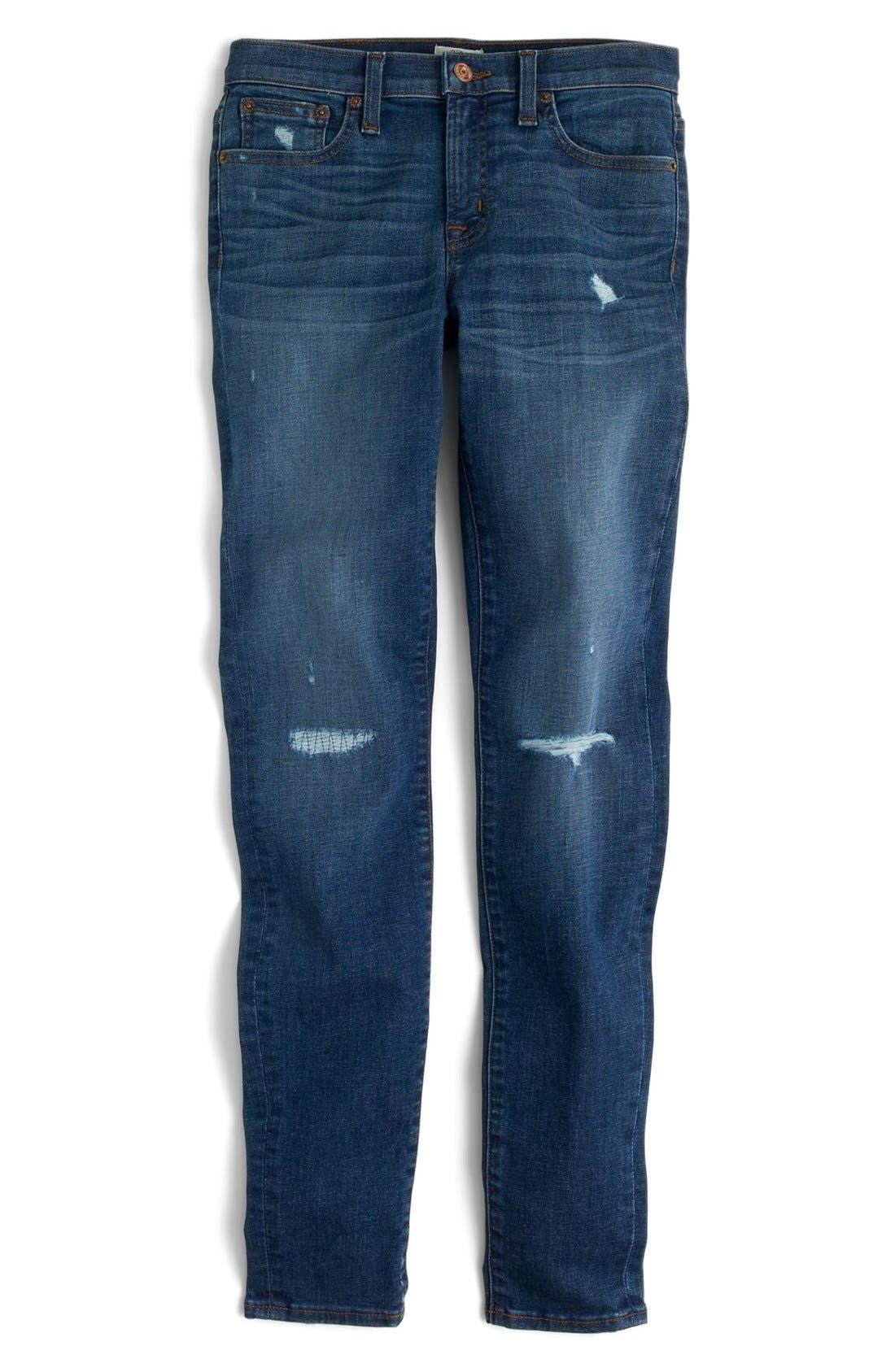 Alternate Image 4  - J.Crew Toothpick Jeans (Pamona) (Regular & Petite)