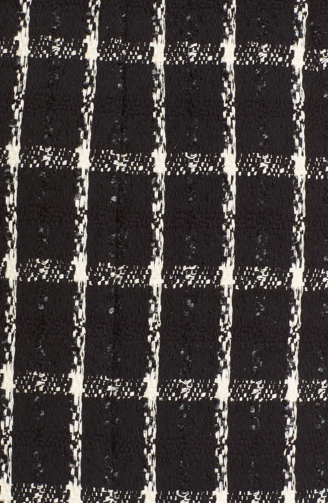 Alternate Image 5  - Tory Burch 'Marisol' Fringe Hem Plaid Tweed Miniskirt