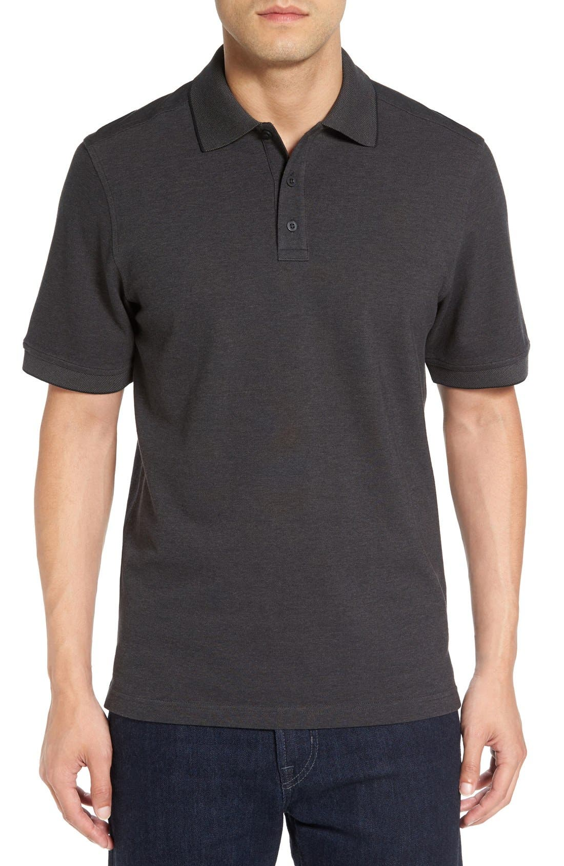 Nordstrom Men's Shop Oxford Piqué Polo (Tall)