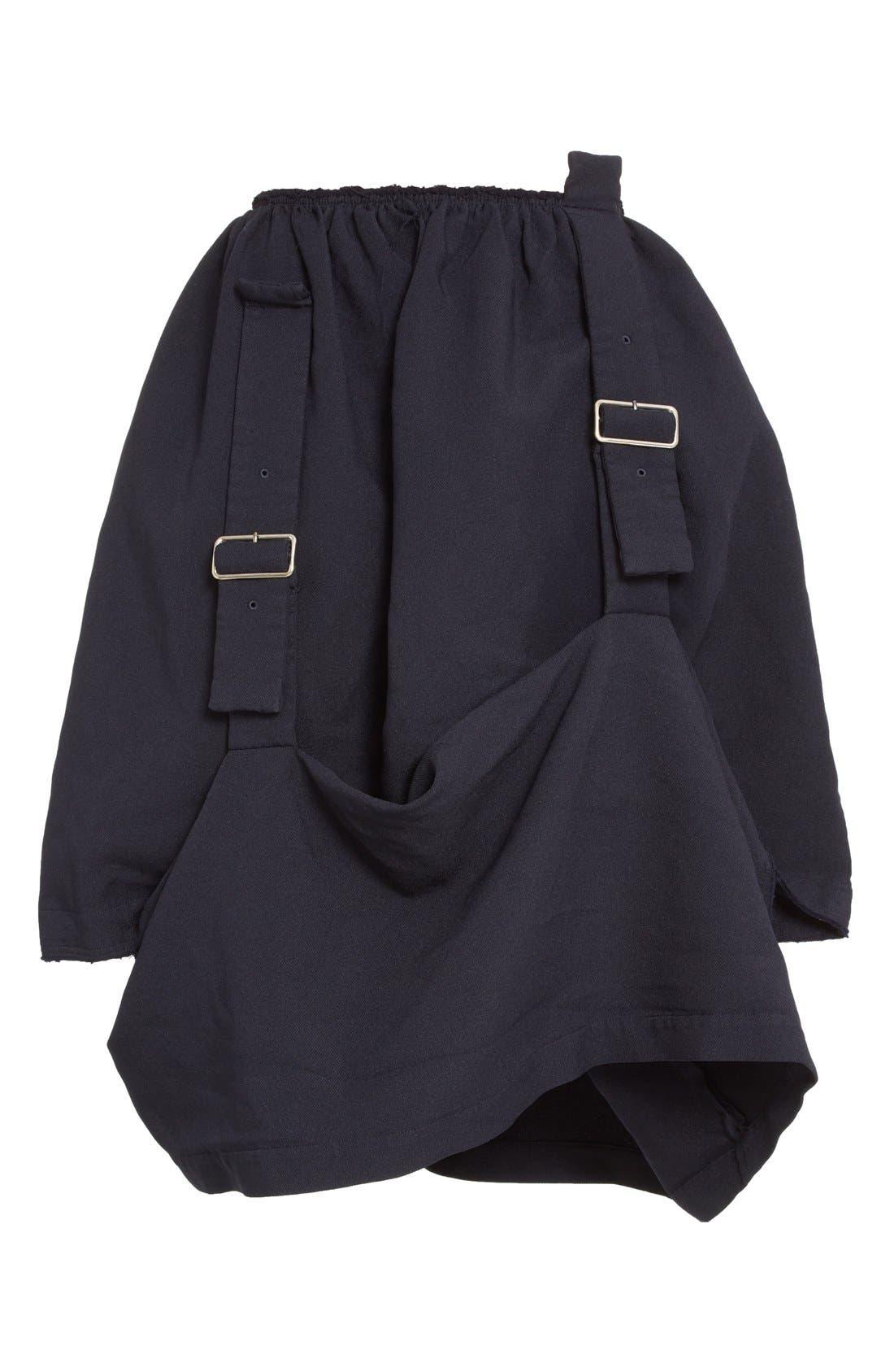 Alternate Image 4  - Comme des Garçons Buckle Detail Draped Serge Skirt