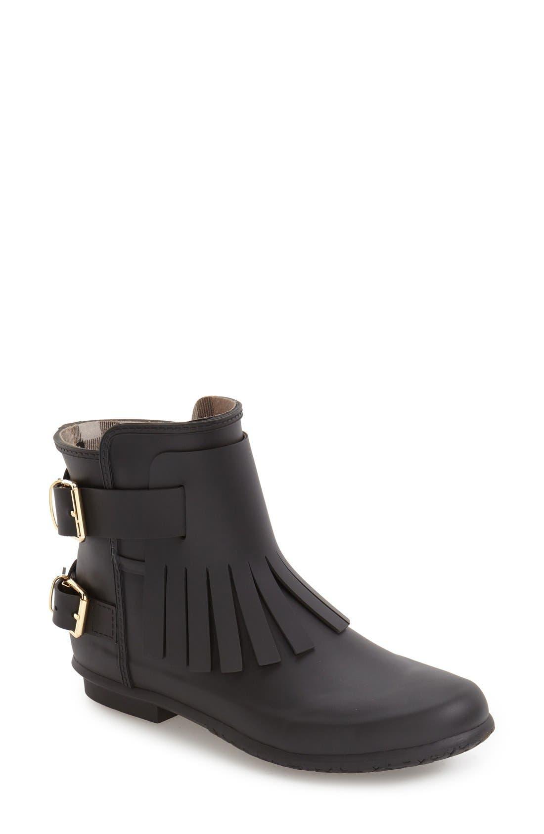 Main Image - Burberry 'Fritton' Kiltie Rain Boot (Women)