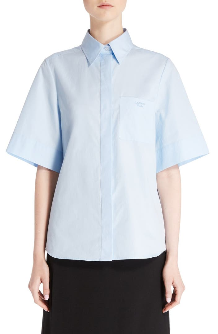Lanvin cotton poplin shirt nordstrom for What is a poplin shirt