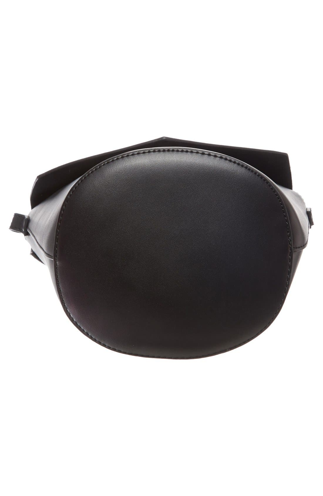 Alternate Image 6  - Street Level Faux Leather Envelope Bucket Bag