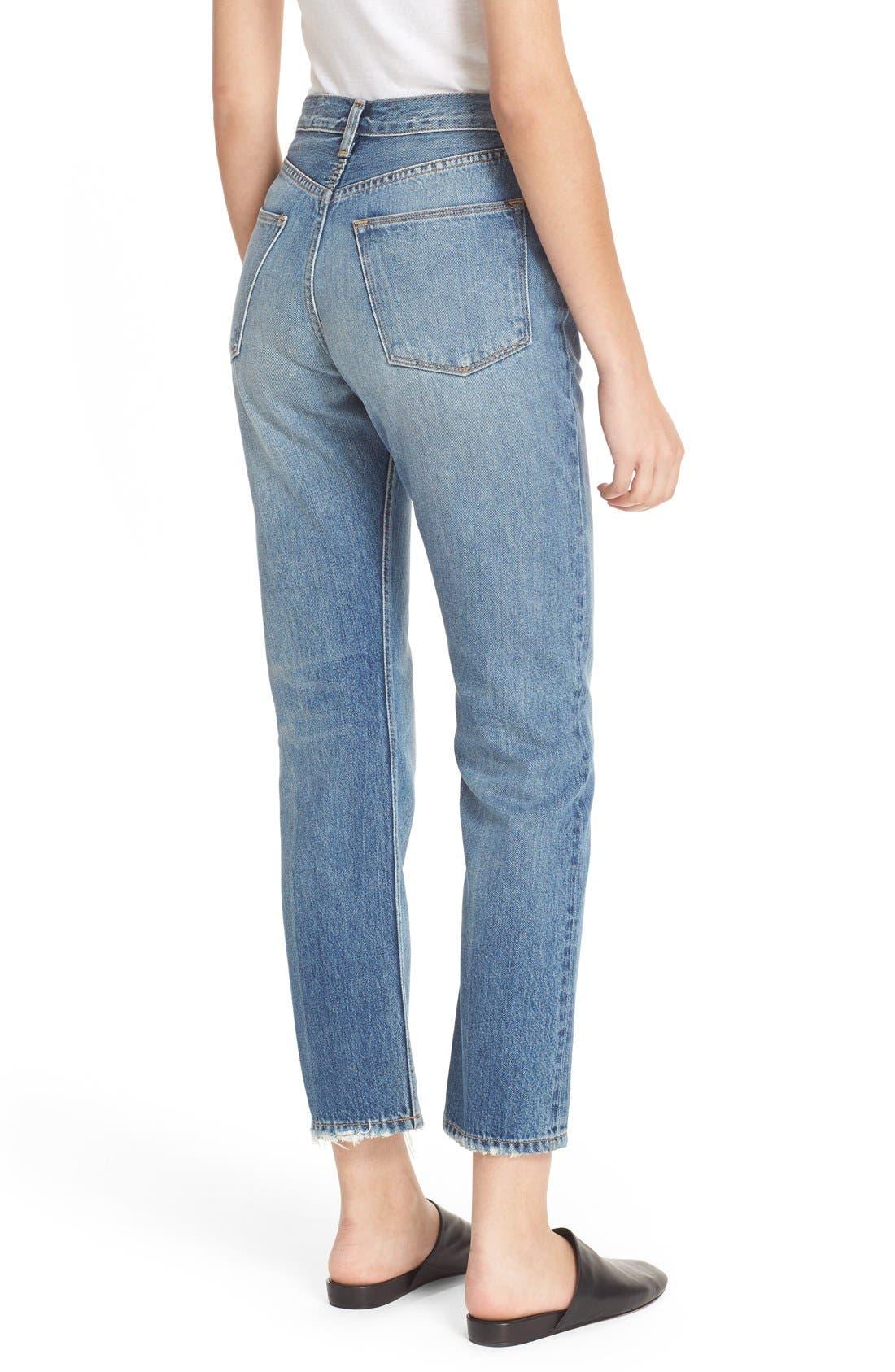 Alternate Image 2  - Vince Vintage Straight Leg Crop Jeans (Calico)