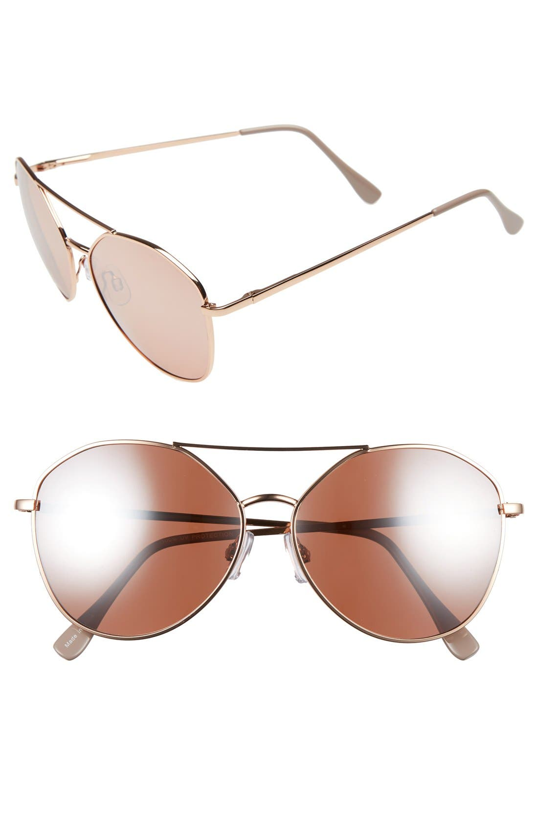 Main Image - BP. Slingshot 58mm Aviator Sunglasses