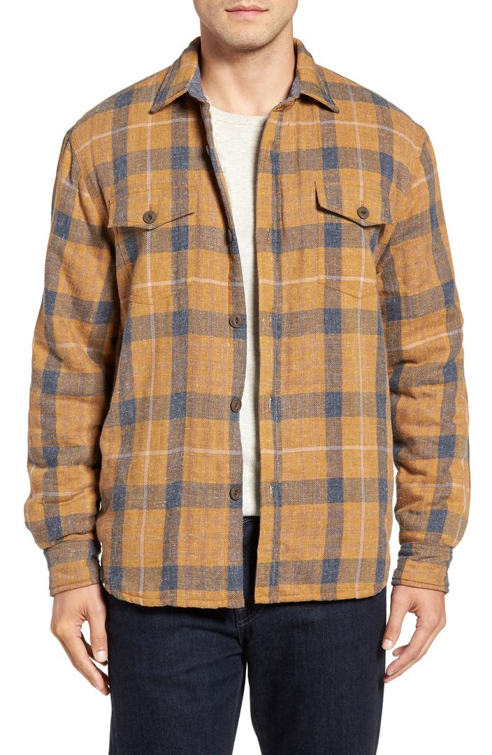 True grit summit baja plaid flannel shirt jacket nordstrom for Athletic cut flannel shirts