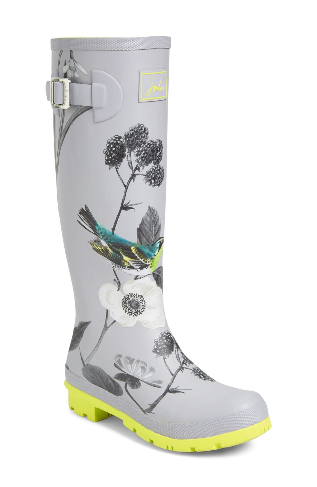 Alternate Image 1 Selected - Joules 'Welly'PrintRain Boot (Women)