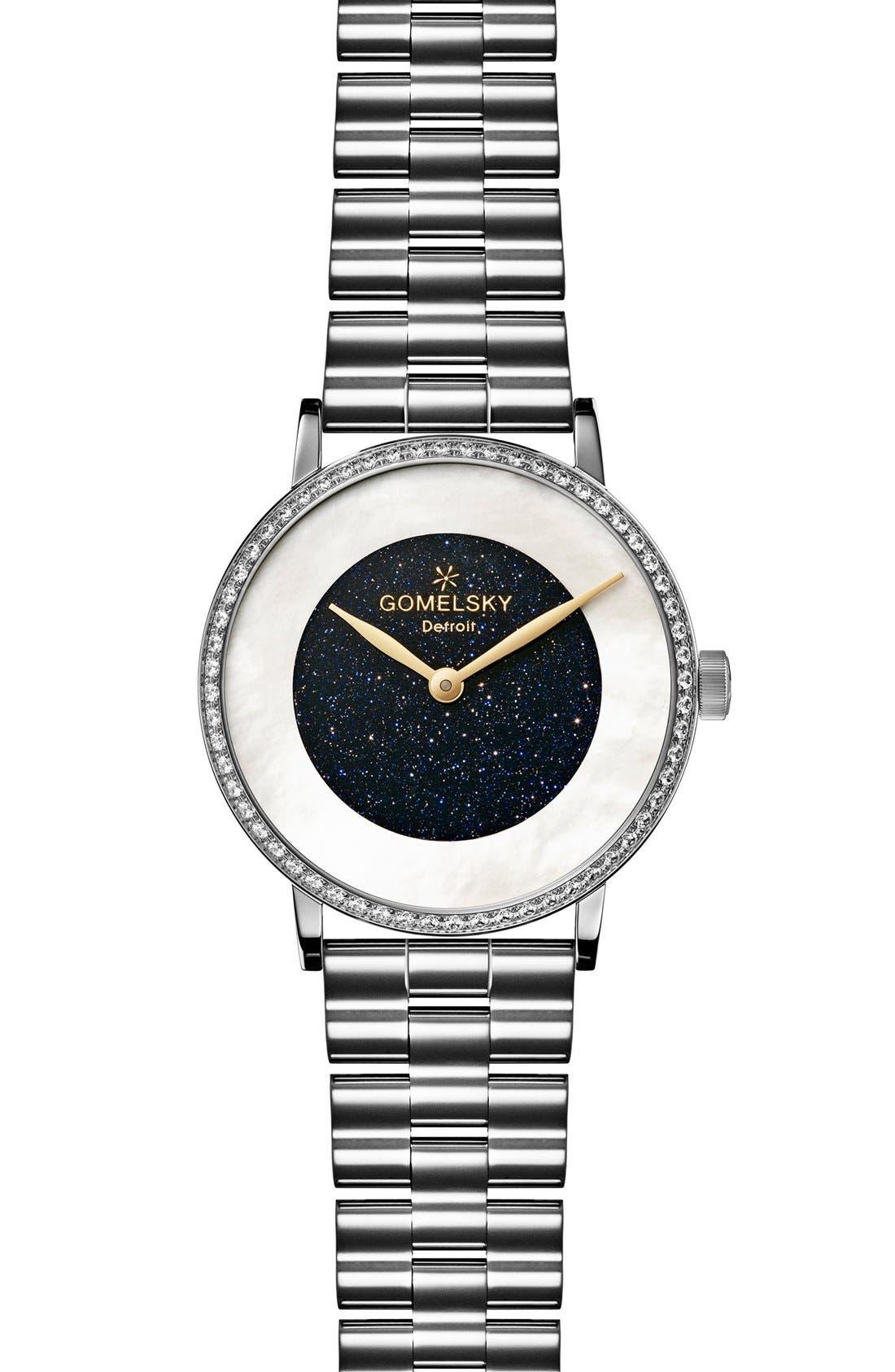 Alternate Image 1 Selected - Gomelsky The Agnes Varis Diamond Bracelet Watch, 32mm