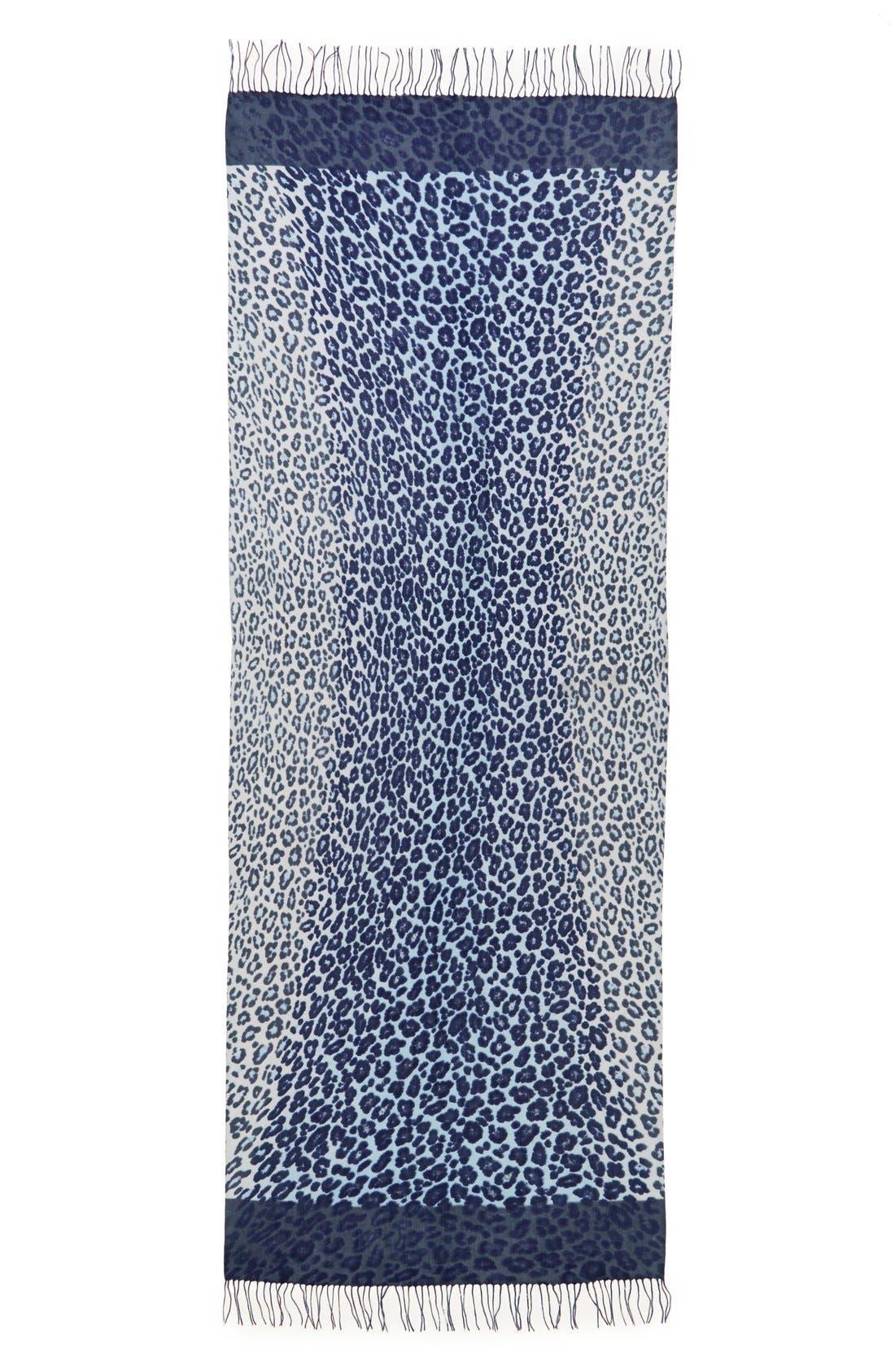Alternate Image 2  - Nordstrom Animal Print Wool & Cashmere Wrap