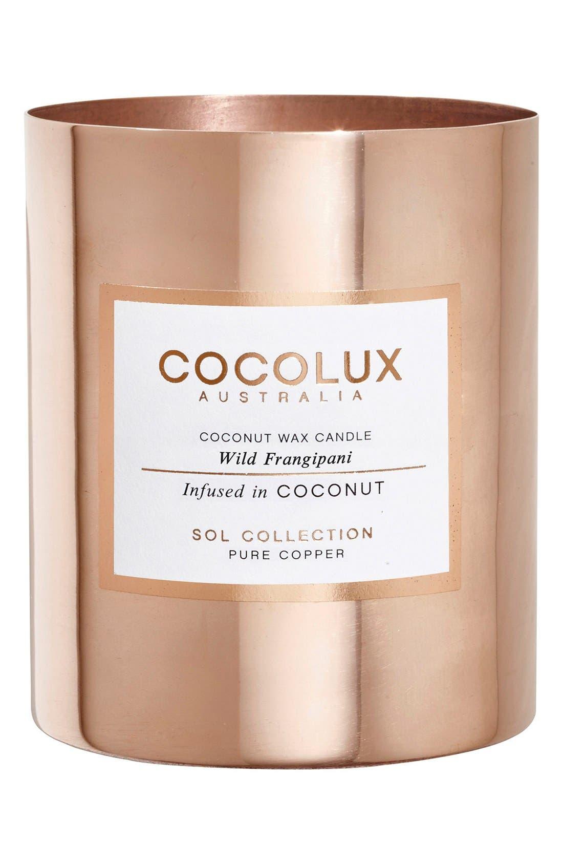 COCOLUX AUSTRALIA Wild Frangipani Brass Candle