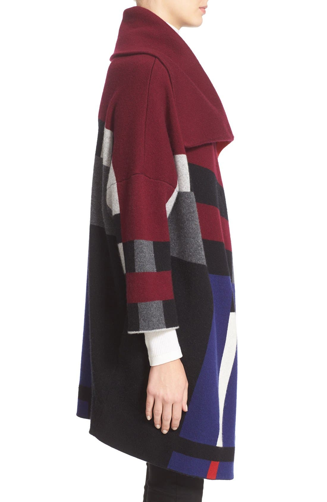 Alternate Image 5  - Burberry Halladale Check Knit Wool & Cashmere Wrap