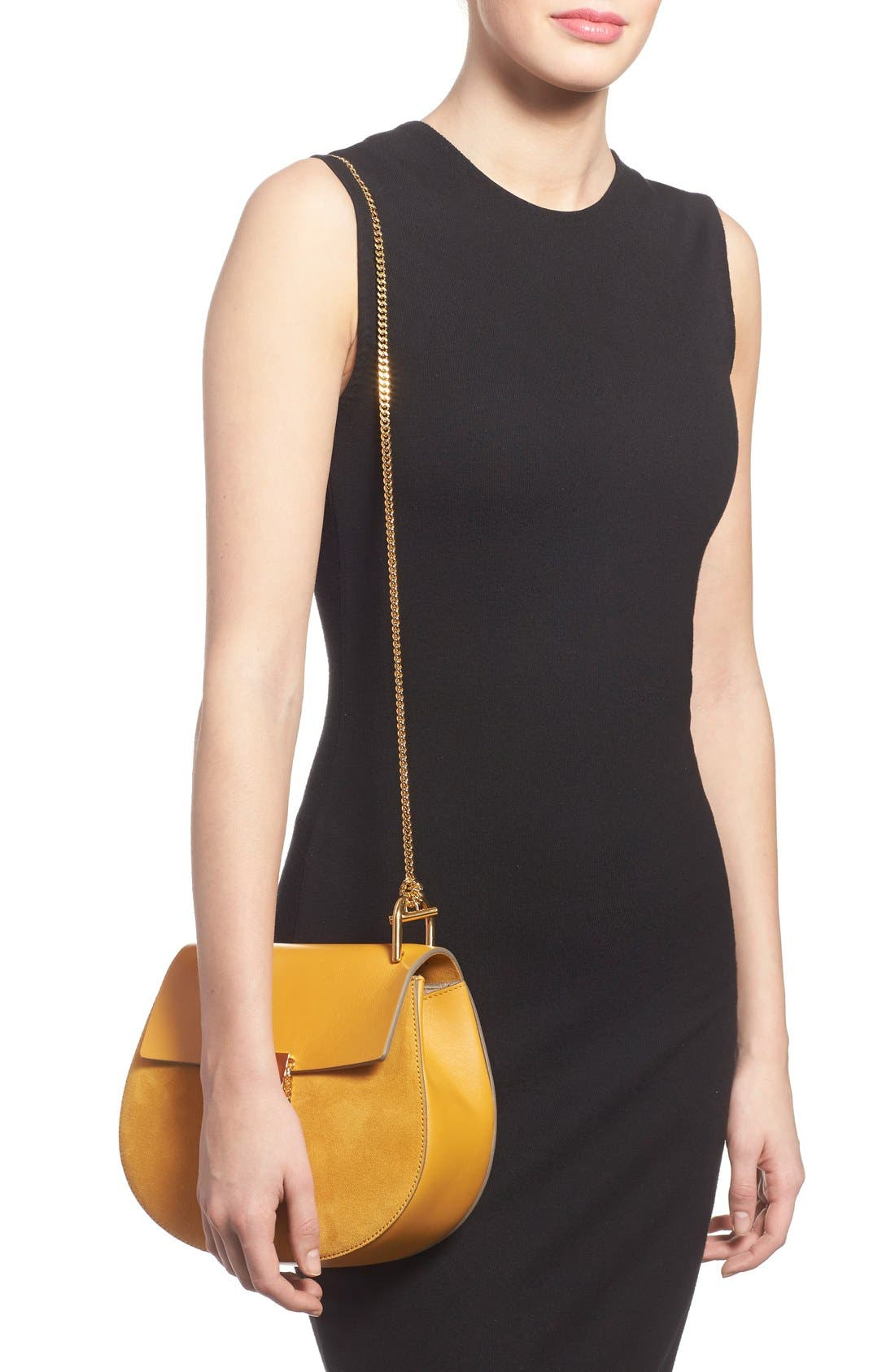 Alternate Image 6  - Chloé Small Drew Leather & Suede Shoulder Bag