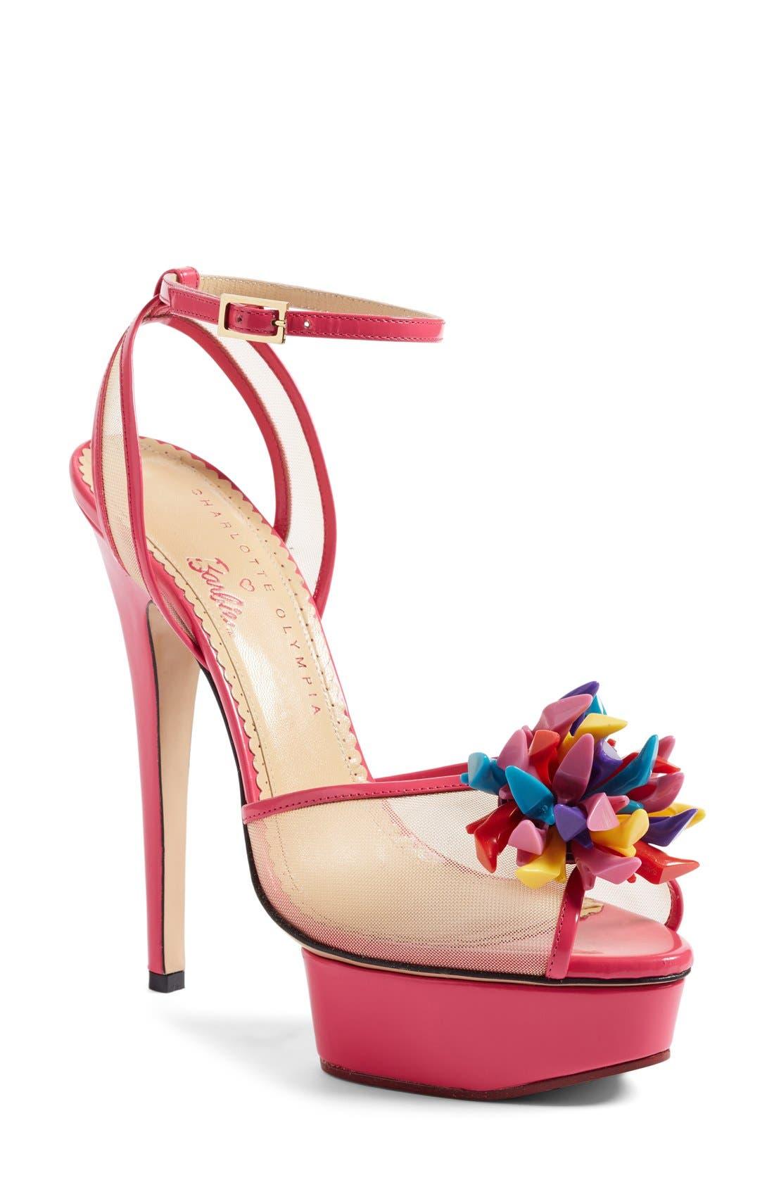Alternate Image 1 Selected - Charlotte Olympia x Barbie® Pomeline Peep Toe Sandal (Women)
