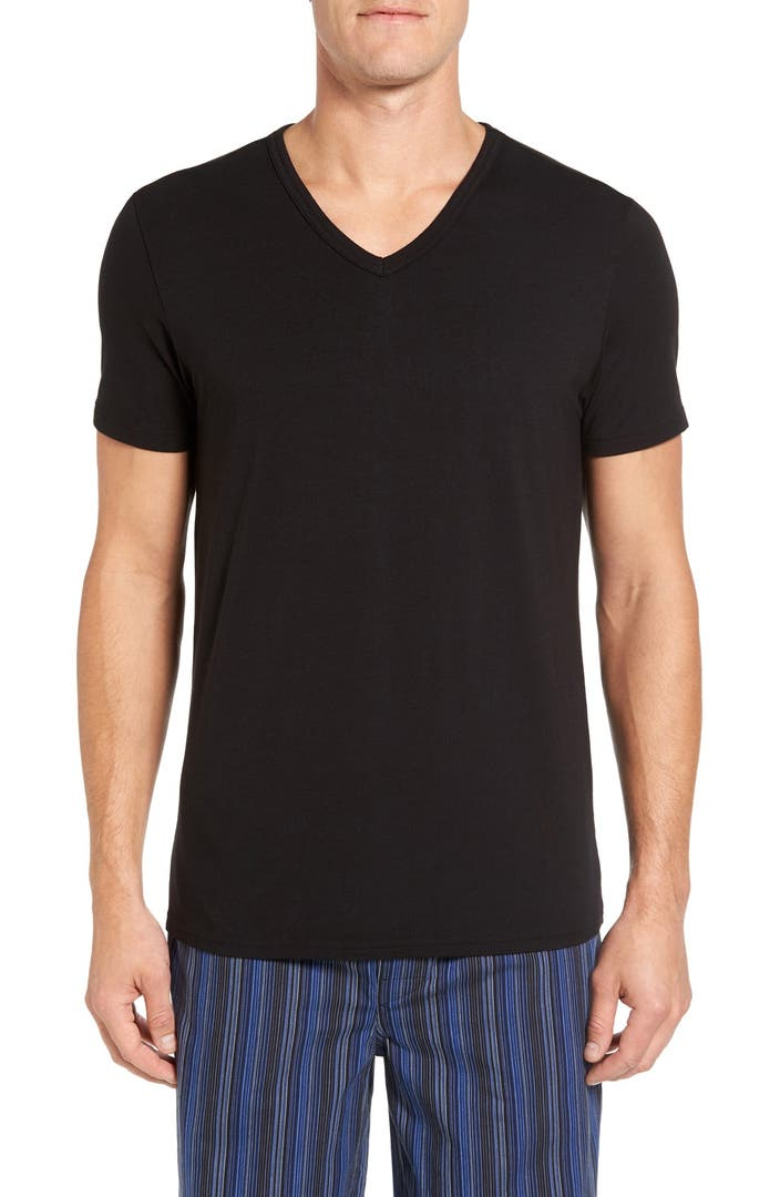 Nordstrom men 39 s shop micromodal v neck t shirt nordstrom for Shop mens t shirts