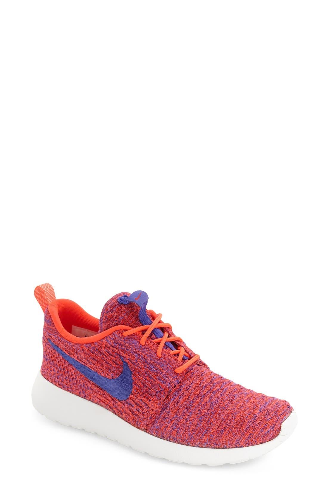 Alternate Image 1 Selected - Nike FlyKnit Roshe Run Sneaker