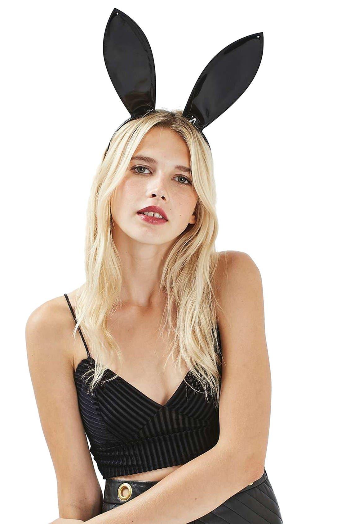 Alternate Image 2  - Topshop Latex Bunny Ear Headband