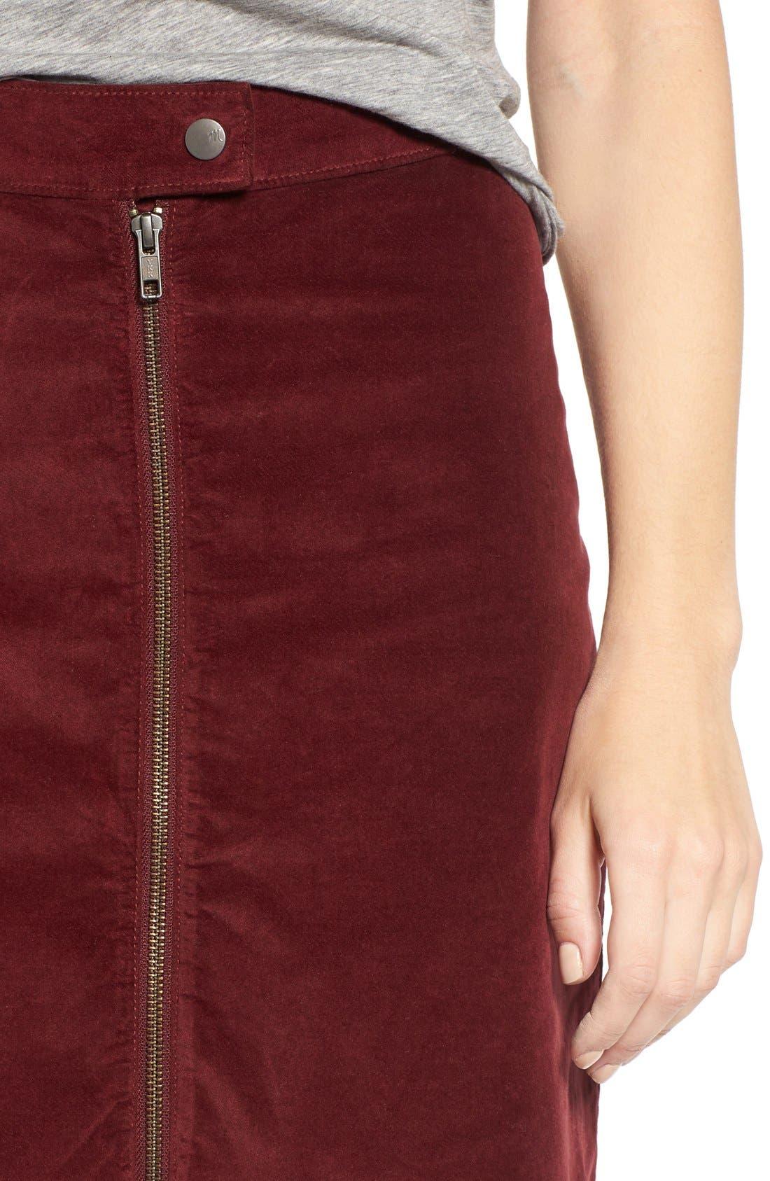 Alternate Image 4  - Madewell Zip Front A-Line Miniskirt