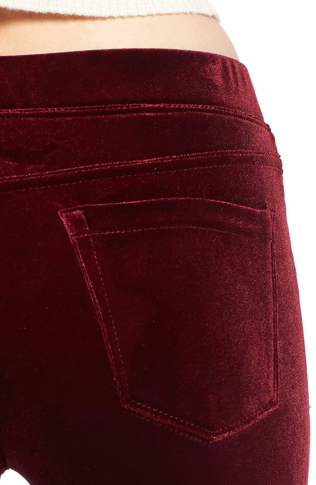 Alternate Image 4  - BLANKNYC Velvet Flare Pants