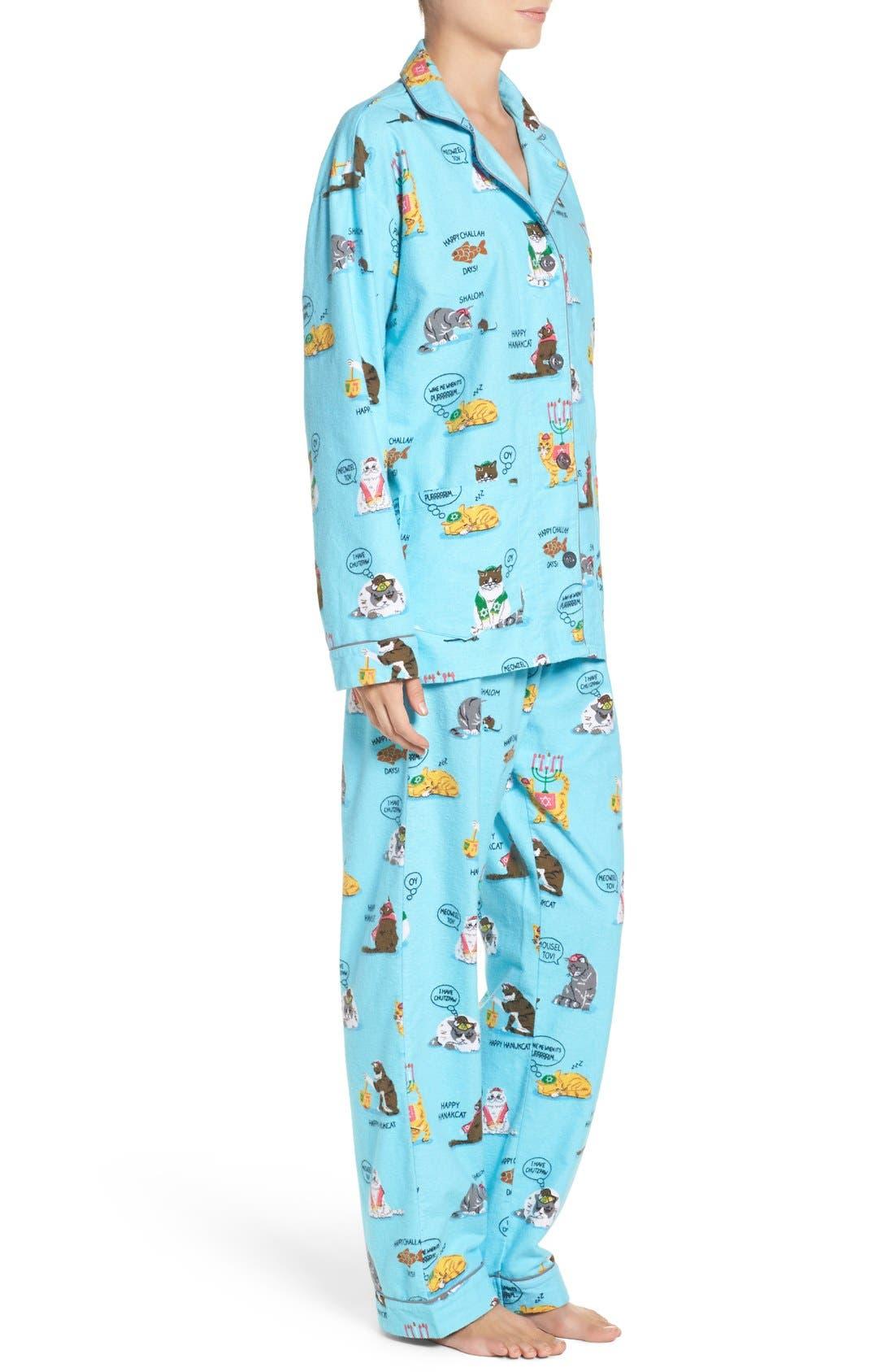 Alternate Image 3  - PJ Salvage Print Flannel Pajamas
