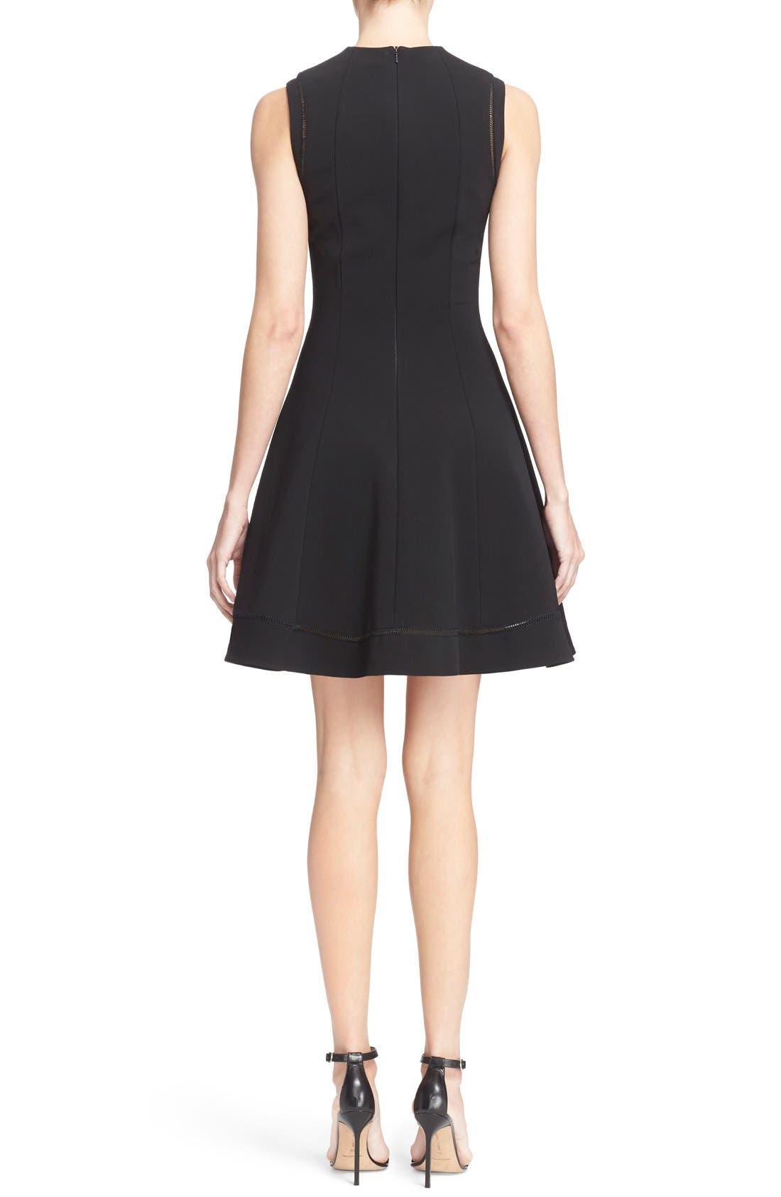 Alternate Image 2  - Victoria Beckham Rib Knit Fit & Flare Dress