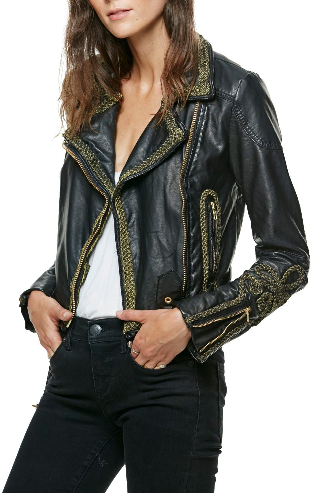 Alternate Image 1 Selected - Free People Bang Bang Faux Leather Jacket