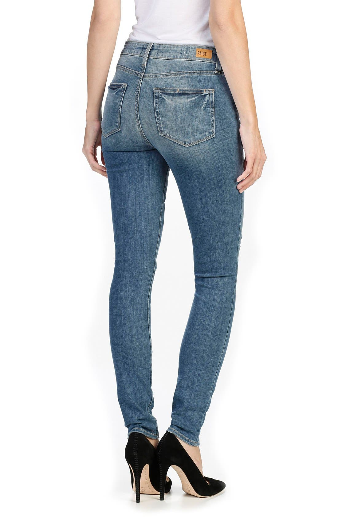 Alternate Image 2  - Paige Denim Hoxton High Waist Ultra Skinny Jeans (Big Sur)